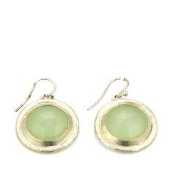 Gurhan 925 Sterling Silver with Aqua Chalcedony Hook Dangle Earrings