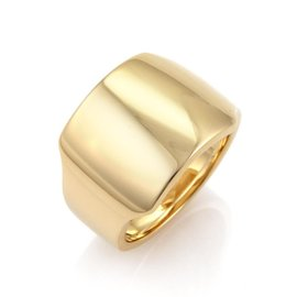 Cartier Santos Dumont 18K Yellow Gold Band Ring Size 8.75
