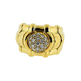 Piaget Yellow Gold Diamond Womens Ring Size 7.5