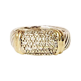 David Yurman 18K Yellow Gold and Sterling Silver with 0.642ctw. Diamond Ring Size 5.5