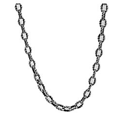 DAVID YURMAN STERLING SILVER 8 mm TWIST LINK CHAIN