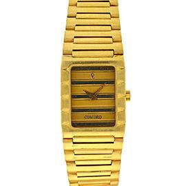 Vintage Concord Dameuri Watch 18k Yellow Gold Ladies Quartz
