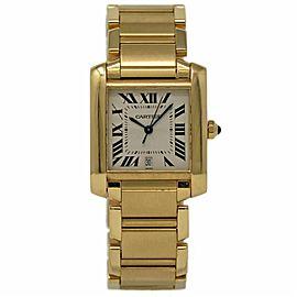 Cartier Tank Francaise W50001R2 35mm Mens Watch
