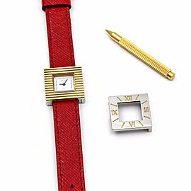 VAN CLEEF & ARPELS Interchangeable Bezel Square Quartz Women's Watch