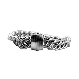 David Yurman 925 Sterling Silver Double Curb Link Royal Cord Bracelet