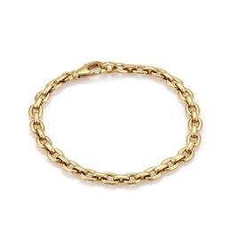 Cartier 18K Yellow Gold Flat Ova Link Chain Bracelet