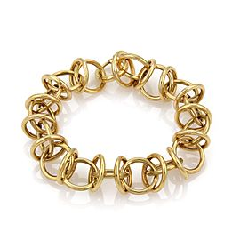 Tiffany & Co. 18K Yellow Gold Fancy Circle Link Bracelet