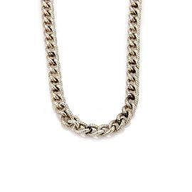 Tiffany & Co. 925 Sterling Silver Textured Cable Link Chain Necklace