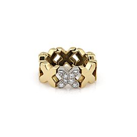 Tiffany & Co. 18K Yellow Gold with 0.30ct Diamond Flex Link Band Ring Size 5.5