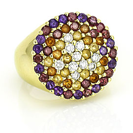 Piero Milano Diamond Gemstone Ring in 18k Yellow Gold