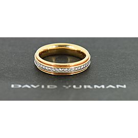 David Yurman 18K Rose Gold Diamond Ring Size 11.25