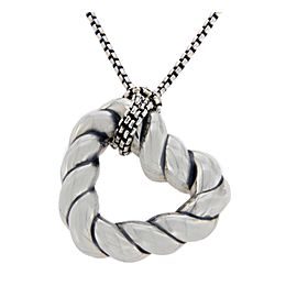 David Yurman Cable Sterling Silver Pendant Necklace