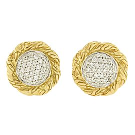 John Hardy 18K Yellow Gold Diamond Earrings
