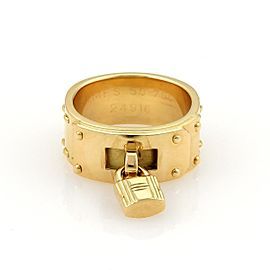 Hermes 18K Yellow Gold Ring Size 5.25