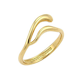 Tiffany & Co. Elsa Peretti 18K Yellow Gold Snake Bypass Ring Size 5