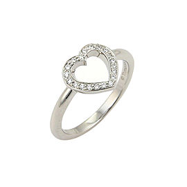 Tiffany & Co. 950 Platinum with 0.10ct Diamonds Open Heart Ring Size 4