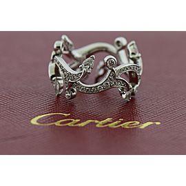 Cartier 18K White Gold Diamond Wedding Ring Size 4