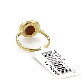 Ippolita Diamond 18K Yellow Gold Diamond Ring Size 6.5