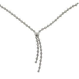 18k White Gold Kwiat Diamond Lariat Necklace 2.70 Cts