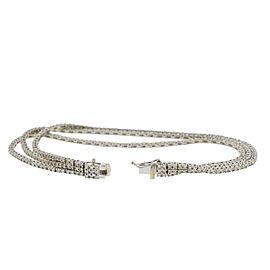 18k White Gold 3 Strand Diamond Bracelet 3.45 Cts