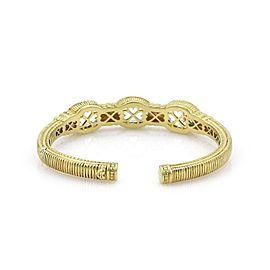 Judith Ripka Prasiolite 18K Yellow Gold Iolite, Diamond, Amethyst Bracelet
