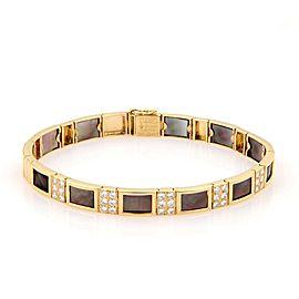 Van Cleef & Arpels Diamond 18K Yellow Gold Diamond, Mother Of Pearl, Pearl Bracelet