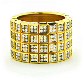 Chopard Ice Cube Diamond Wide Band Ring in Yellow Gold Size 7.5