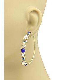 Ippolita Rock 18K Yellow Gold Lapis, Mother Of Pearl Earrings