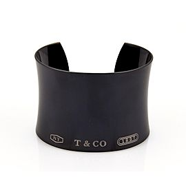 Tiffany & Co. 1837 Collection Titanium Wide Concave Cuff Bracelet