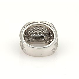 Carrera Y Carrera Diamonds 18K White Gold Diamond Ring Size 6.5