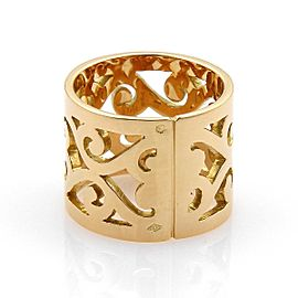 Hermes 18K Yellow Gold Ring Size 6.25