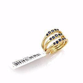 Ippolita Glamazon 18K Yellow Gold Sapphire Ring Size 7