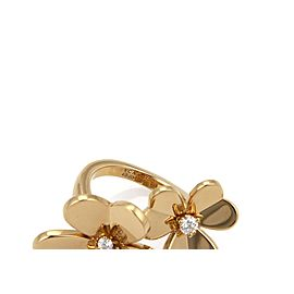 Van Cleef & Arpels FRIVOLE 18K Yellow Gold Diamond Ring Size 5