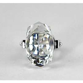 BACCARAT JEWELRY BOUCHONS DE CARAFE STERLING SILVER CLEAR RING SIZE 53 EU-6.5 US