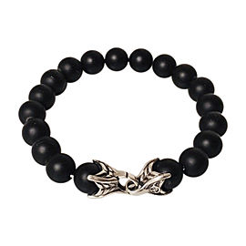 David Yurman Sterling Silver Onyx Bracelet
