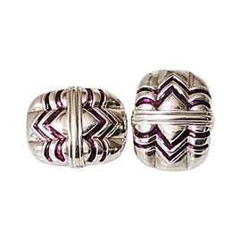 Gucci Sterling Silver Enamel Vintage Earrings