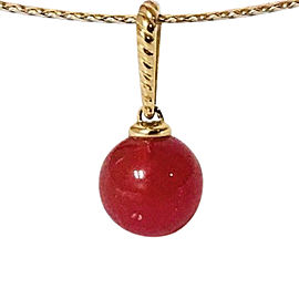 David Yurman Solari 18k Yellow Gold Carnelian Pendant