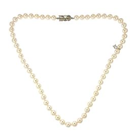 Mikimoto 18K White Gold Cultured Pearl Necklace