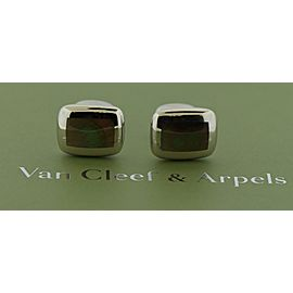 Van Cleef & Arpels 18K White Gold Mother Of Pearl, Pearl Cufflinks