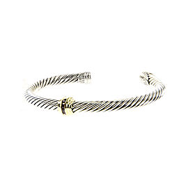 David Yurman Cable 14K Yellow Gold, Sterling Silver Ruby Bracelet