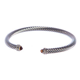 David Yurman Cable Sterling Silver Citrine Bracelet
