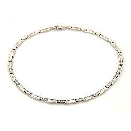 Tiffany & Co. Atlas 18K White Gold Diamond Necklace
