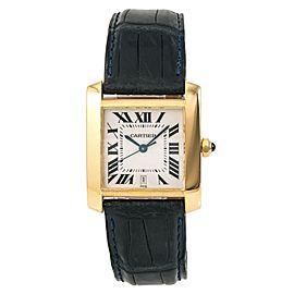 Cartier Tank Francaise W5000156 28mm Mens Watch