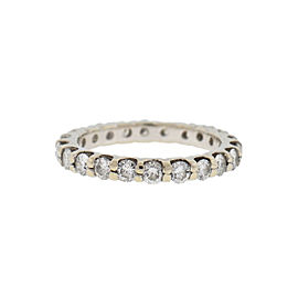 14k White Gold Ladies Diamond Wedding Band Ring 1.1Cts