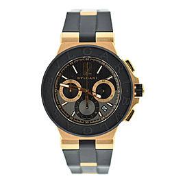 Bulgari Diagono Chronograph DG42GVCH 42mm Mens Watch