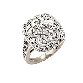 Tacori 18K White Gold Diamond Ring Size 6.5