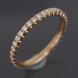Cartier 18K Rose Gold Diamond Ring Size 4.75