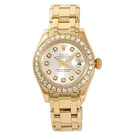 Rolex Datejust Pearlmaster 80318 31mm Womens Watch