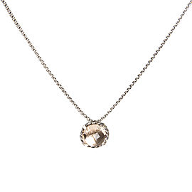 David Yurman Chatelaine Sterling Silver Morganite Pendant Necklace