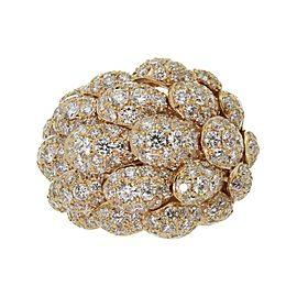 De Grisogono 18K Rose Gold Diamond Ring Size 6